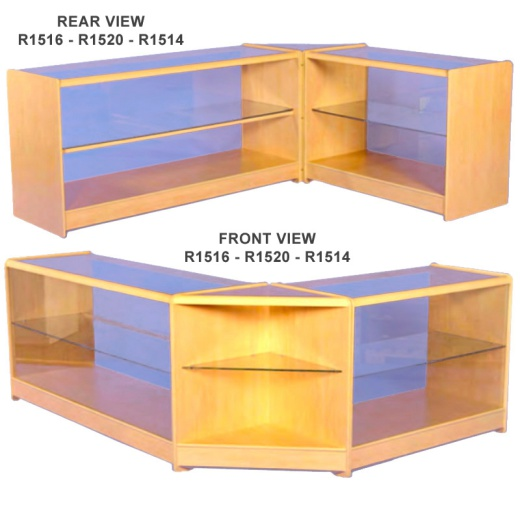 Picture of 2 Level Glass Display Counters Combination Kit