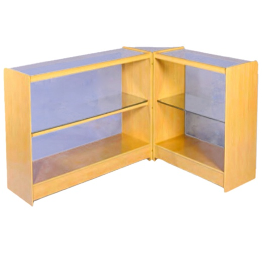 Uni-Shop (Fitting) Ltd - 2 Level Glass Display Counters Combination Kit