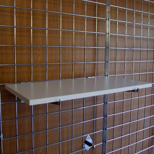 Image of Gridwall MDF Shelves Shop Fittings (Maple Or White)