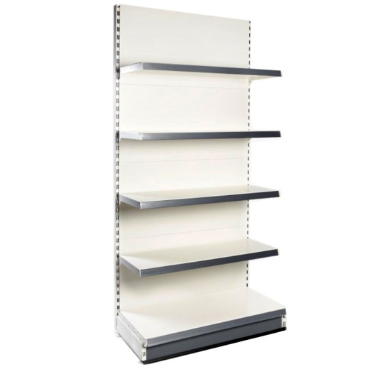 Picture of Retail Wall Shelving - Cream/Silver Bay & 1x47cm 2x37cm 2x30cm Shelves