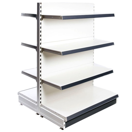 Picture of Retail Gondola Shelving - Cream/Silver Plain Bay & 2x37cm 6x30cm Shelves