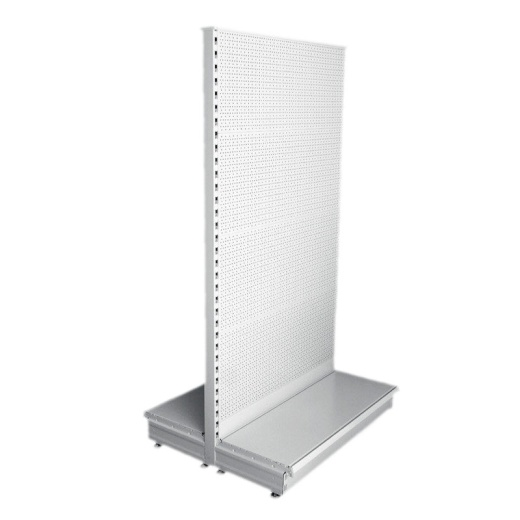 Picture of Retail Gondola Shelving - Cream/Silver Pegboard Bay & 2x37cm Shelves